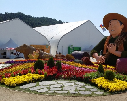TerraCottem Universal in bloembedden, Goesan International Organic EXPO, Zuid-Korea.