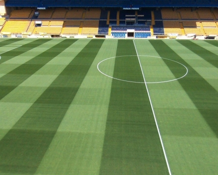 TerraCottem Turf, Estadio El Madrigal, Villareal, İspanya'da.