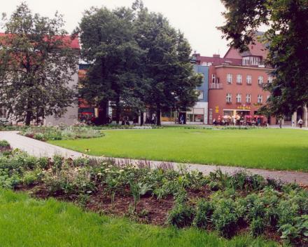Rekonstrukce parkové plochy – Zlín, náměstí Míru
