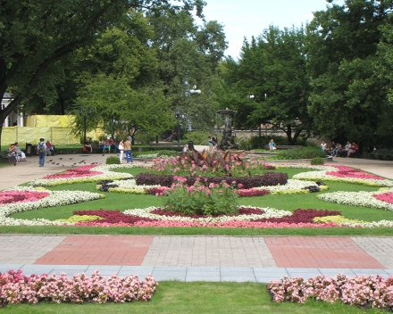 TerraCottem Universal in flower beds, Riga, Latvia.