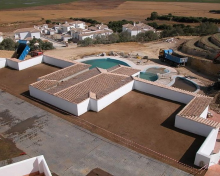 TerraCottem Universal in roof gardens, Benalup, Spain.