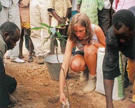 """Projekt """"Zelená nádej"""" blízko Njou, Burkina Faso."""