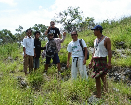 Environmental reforestation with TerraCottem Universal and bamboo, Nusa Penida, Bali, Indonesia.