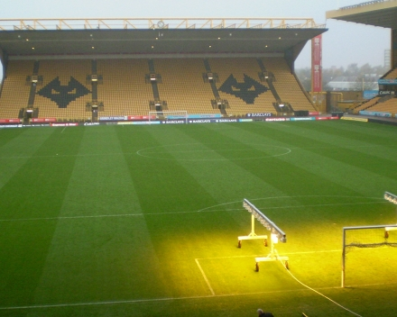 TerraCottem Turf au Stade Molineux - Wolverhampton Wanderers FC, Angleterre.