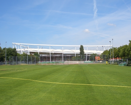 Gottlieb Daimler Stadium - training grounds, Stuttgart, Germany: TerraCottem application in preparation for World Cup 2006.