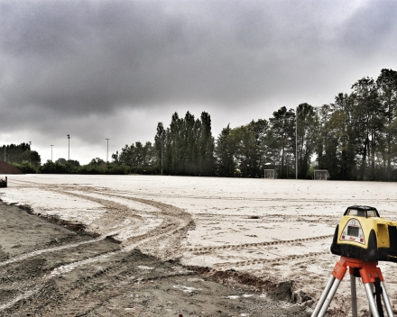 Renovatie en uitbreiding van voetbalvelden Sportpark Aalter-centrum