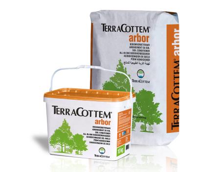 TerraCottem Arbor está disponible en sacos de 20 Kg y cubos de 10 Kg.