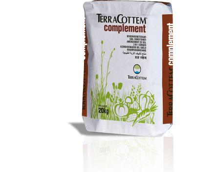 TerraCottem Complement 20 kg'lık torbalarda mevcuttur.