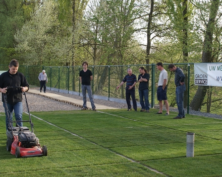 We aim at endorsing and certifying our product's benefits by Universities and independent laboratories - turf trial at UGent for European Turfgrass Society.