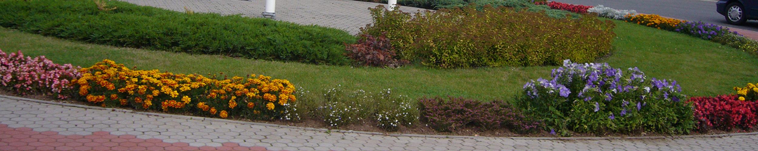 Květinové záhony v Trutnov